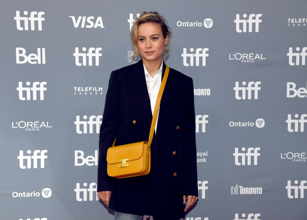 Brie Larson on a red carpet at TIFF.
