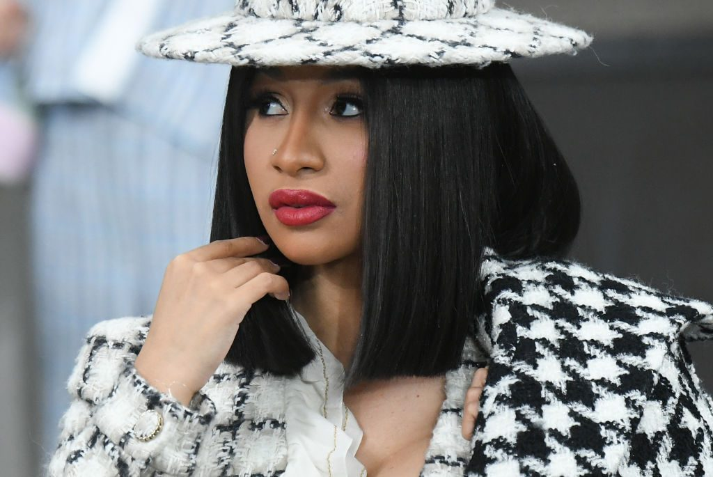 Cardi B attends the Chanel Womenswear Spring/Summer 2020 show as part of Paris Fashion Week.