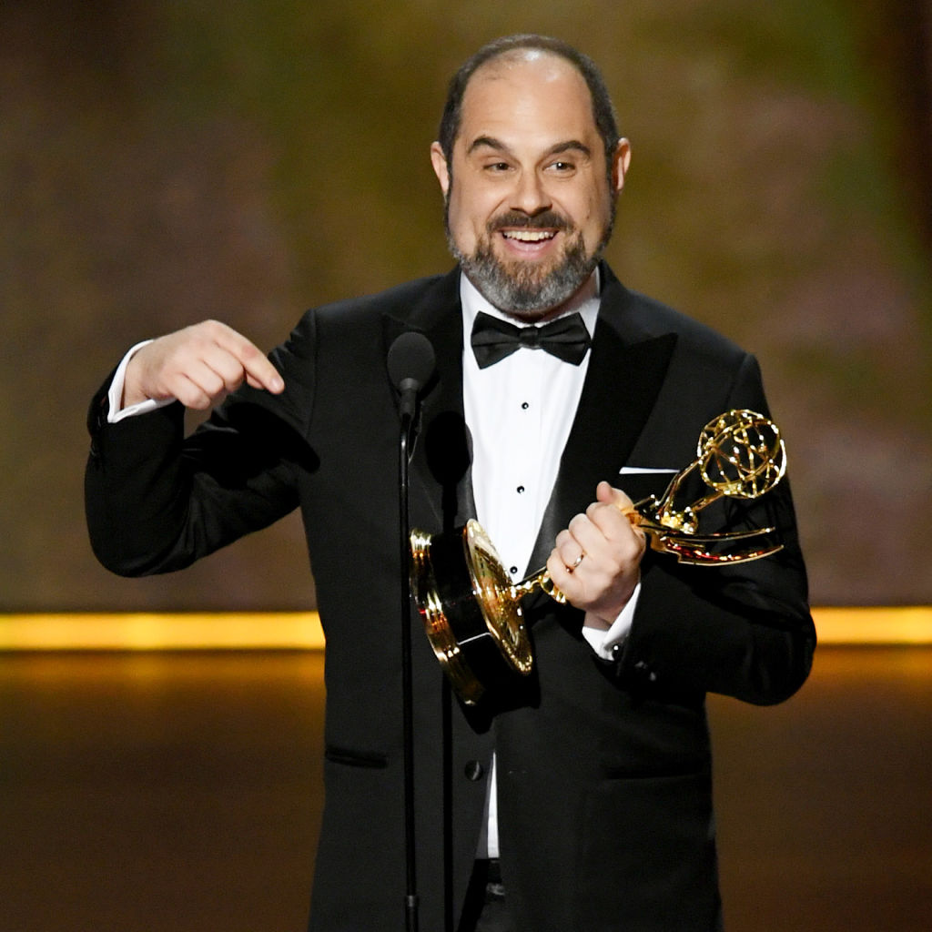 Craig Mazin, new director for the sixth 'Pirates of the Caribbean,' after winning his Emmy for 'Chernobyl.'
