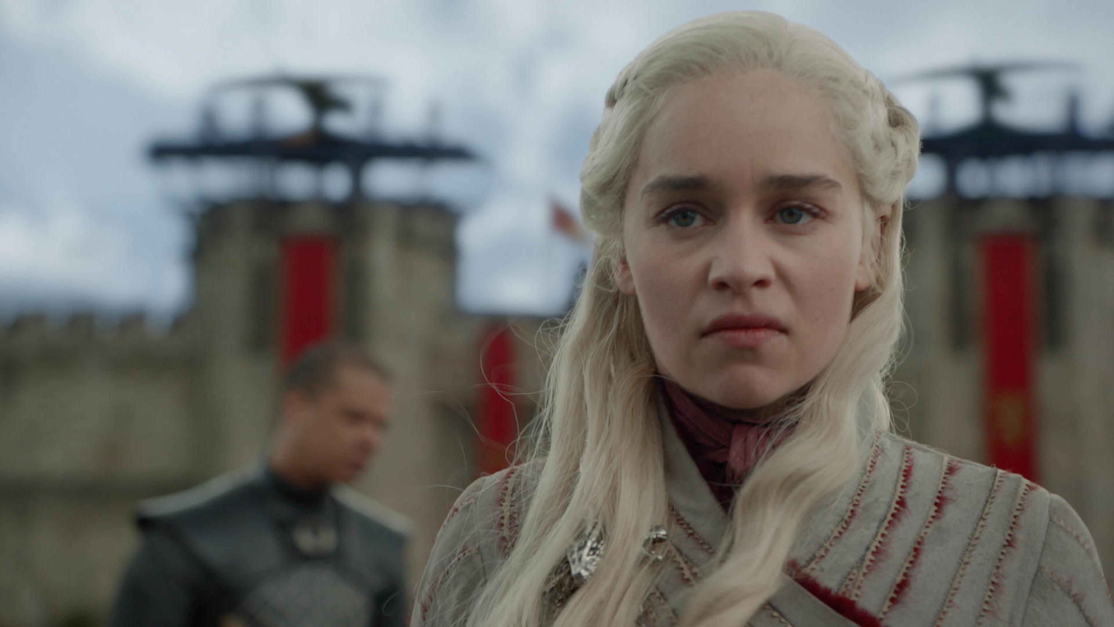 Daenerys Targaryen storming away after Missandei's murder (Episode 4 of 'Game of Thrones').