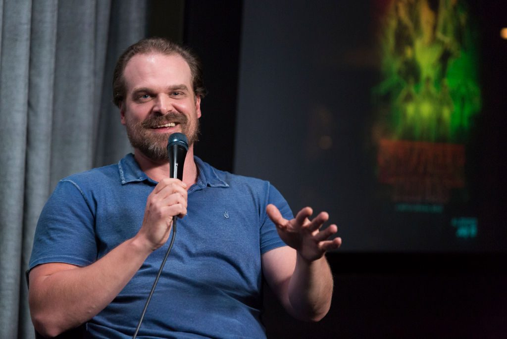 "David Harbour attends SAG-AFTRA Foundation Conversations with ""Stranger Things"" at SAG-AFTRA Foundation Screening Room."