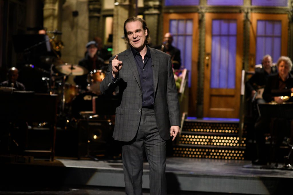 Host David Harbour during the SNL monologue on October 12, 2019