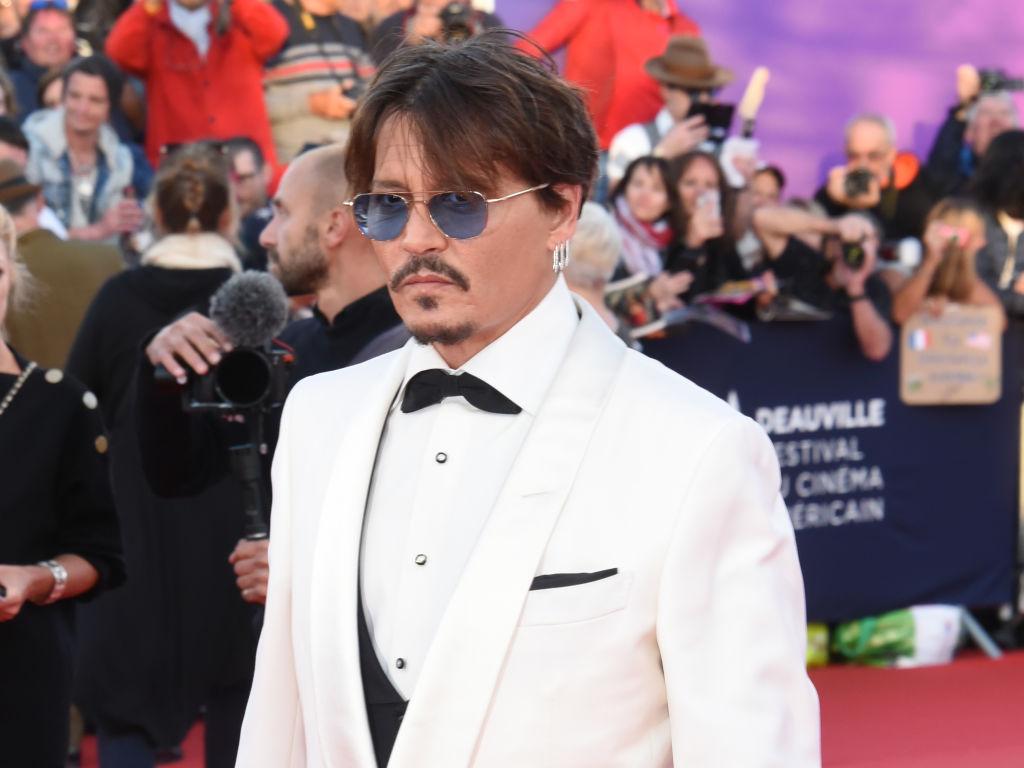 Johnny Depp on a red carpet.