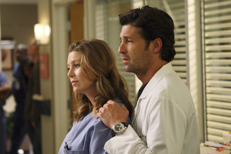 Derek and Meredith together on Grey's Anatomy