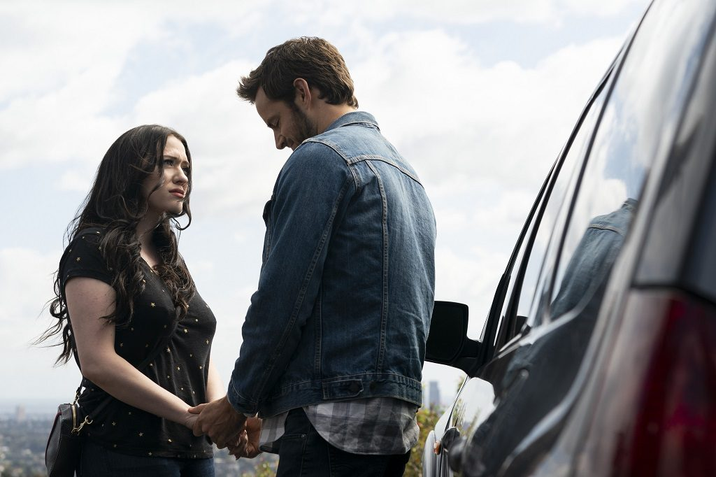 'Dollface' Episode 101 -- Jules (Kat Dennings) and Jeremy (Connor Hines)