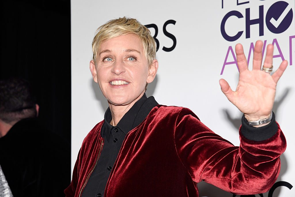 Ellen Degeneres, winner of mulitple awards, poses in the press room during the People's Choice Awards 2017.