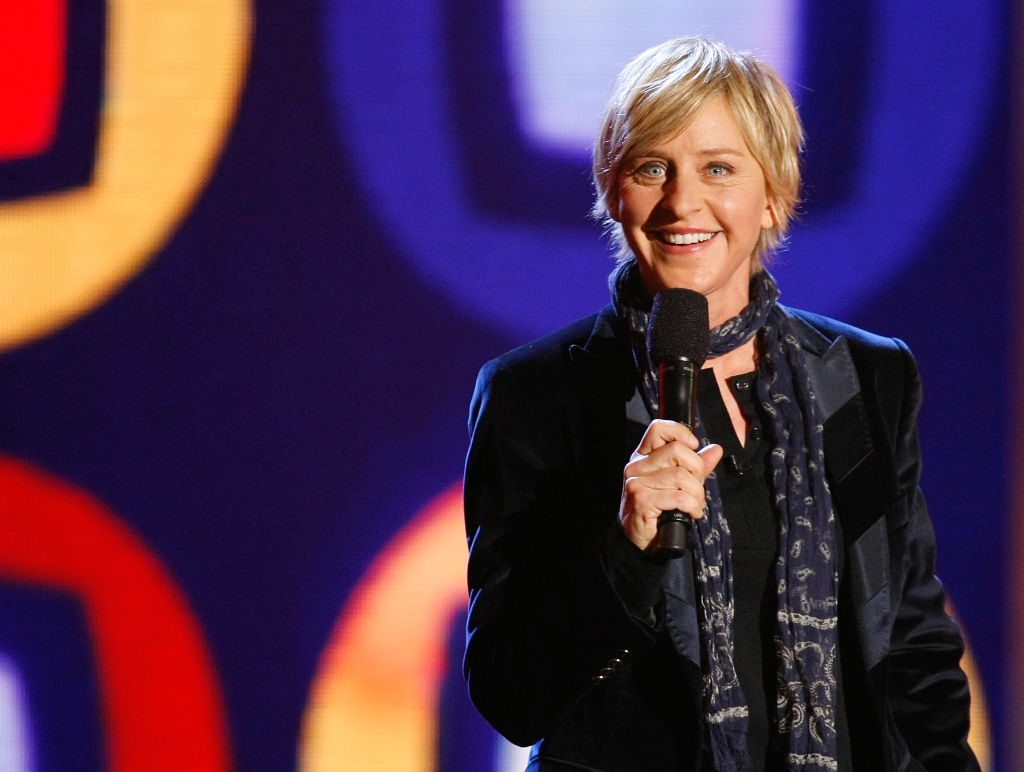 Talk show host/comedian Ellen DeGeneres performs at a taping of ''Ellen's Even Bigger Really Big Show'' during The Comedy Festival.