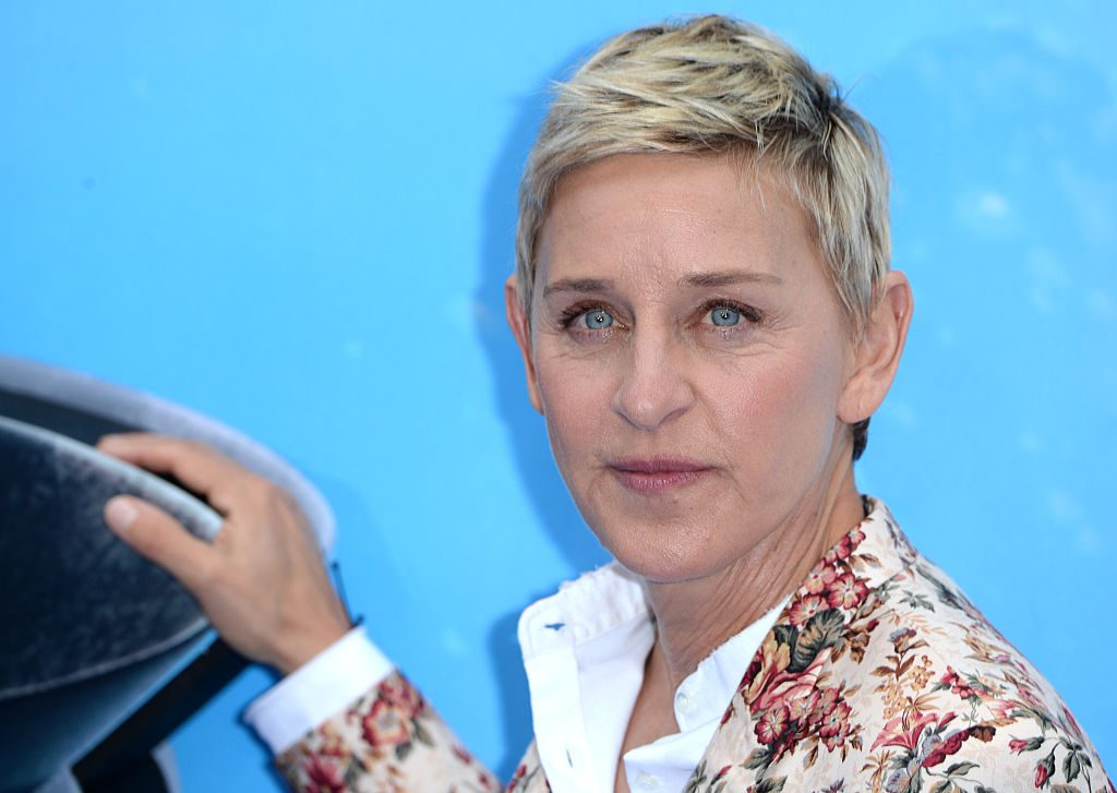 "Ellen DeGeneres attends the UK Premiere of ""Finding Dory"" at Odeon Leicester Square on July 10, 2016 in London, England."