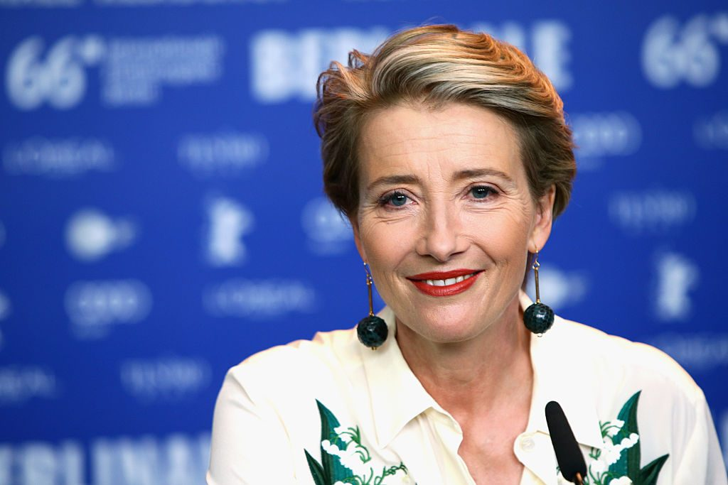 Emma Thompson attends the 'Alone in Berlin' press conference.