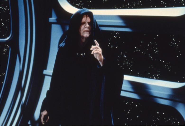 Ian McDiarmid as Emperor Palpatine in 'Star Wars'