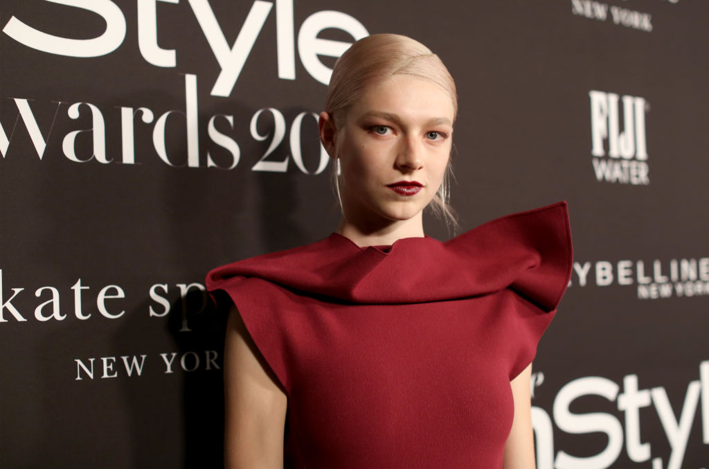 Hunter Schafer at the InStyle Awards red carpet.