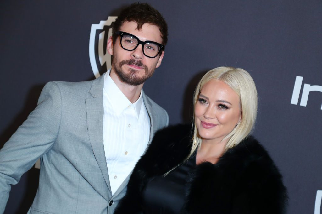 Matthew Koma and Hilary Duff at a Golden Globes After Party in 2019