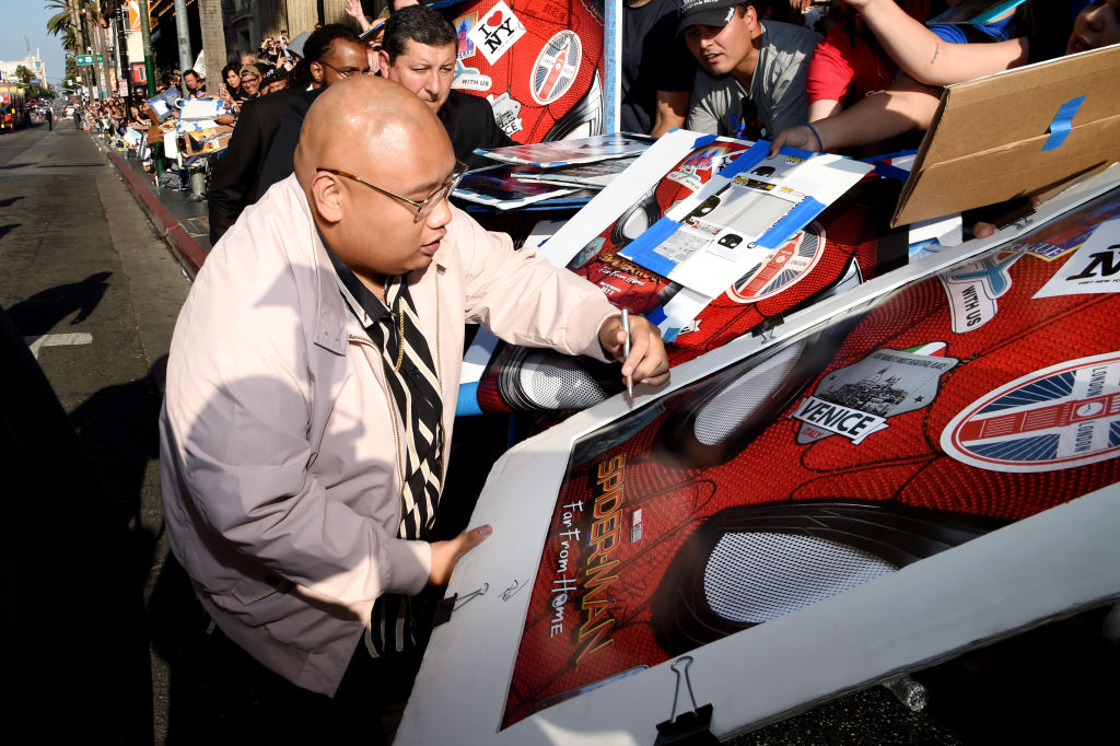 Jacob Batalon at the 'Spider-Man: Far From Home' premiere.