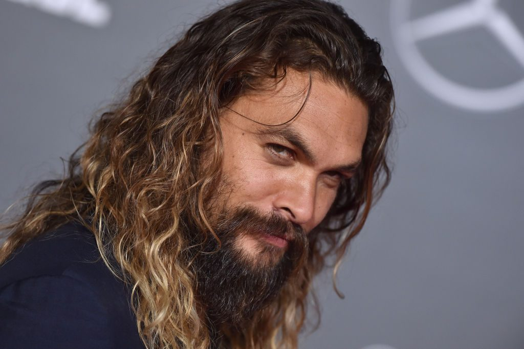 Jason Momoa arrives at the premiere of Warner Bros. Pictures' 'Justice League' at Dolby Theatre.