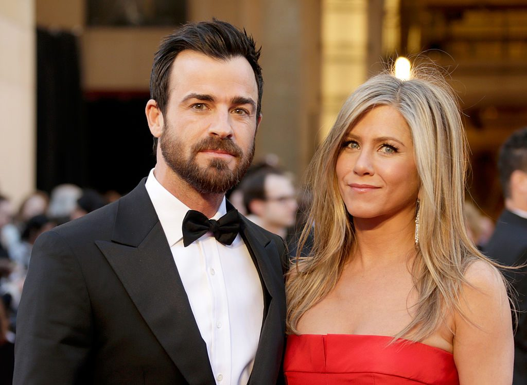 Jennifer Aniston and Justin Theroux at the 85th Annual Academy Awards.