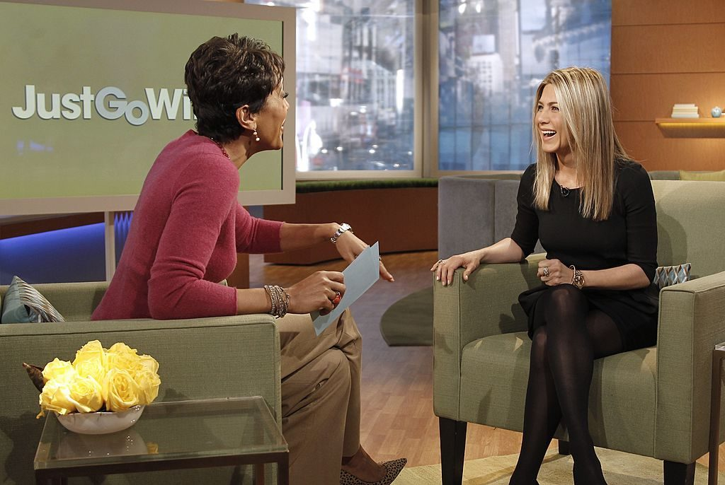 Jennifer Aniston and Robin Roberts on 'Good Morning America' in 2010