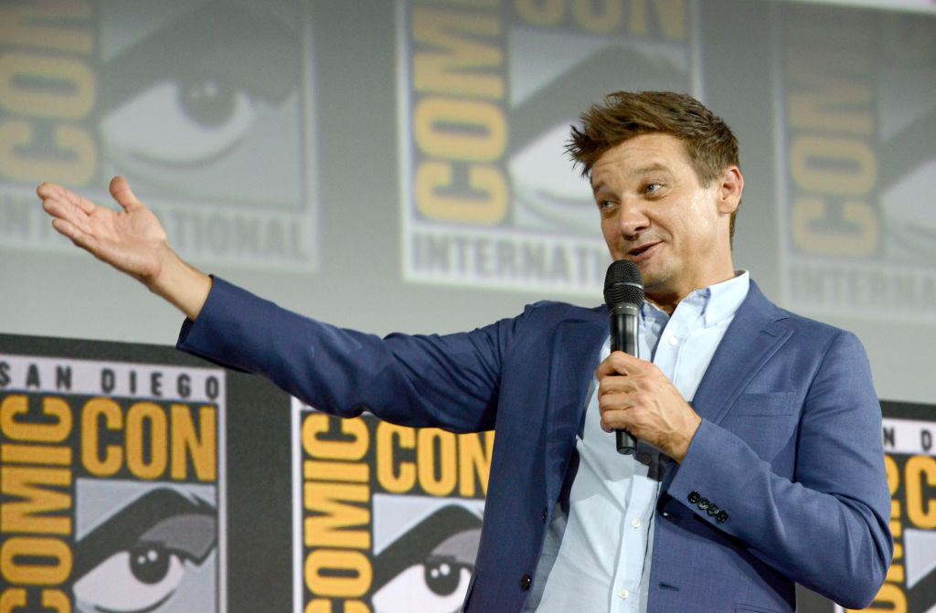 Jeremy Renner at San Diego Comic Con.
