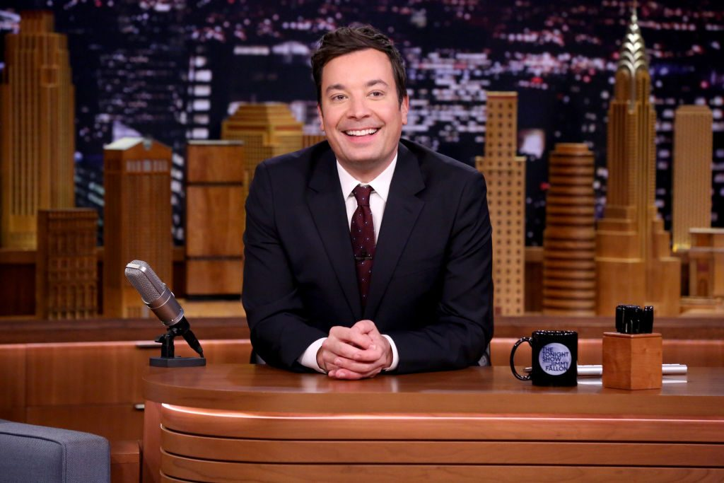 """Jimmy Fallon during """"Chit-Chat"""" on November 20, 2017."""