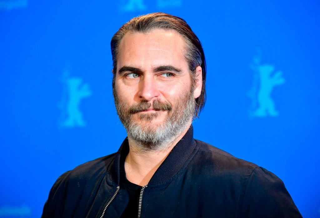 """Joaquin Phoenix poses during the photo call for the film """"Don't Worry, He Won't Get Far on Foot."""""""