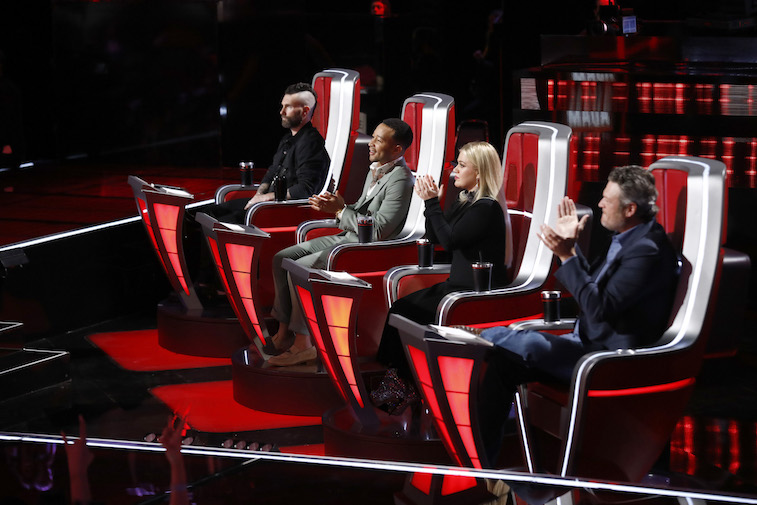 Judges in their chairs on 'The Voice'