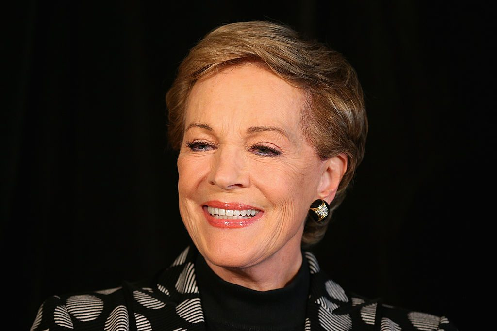 "Julie Andrews speaks to media at a press conference ahead of her national tour of ""An Evening with Julie Andrews"" on May 16, 2013."