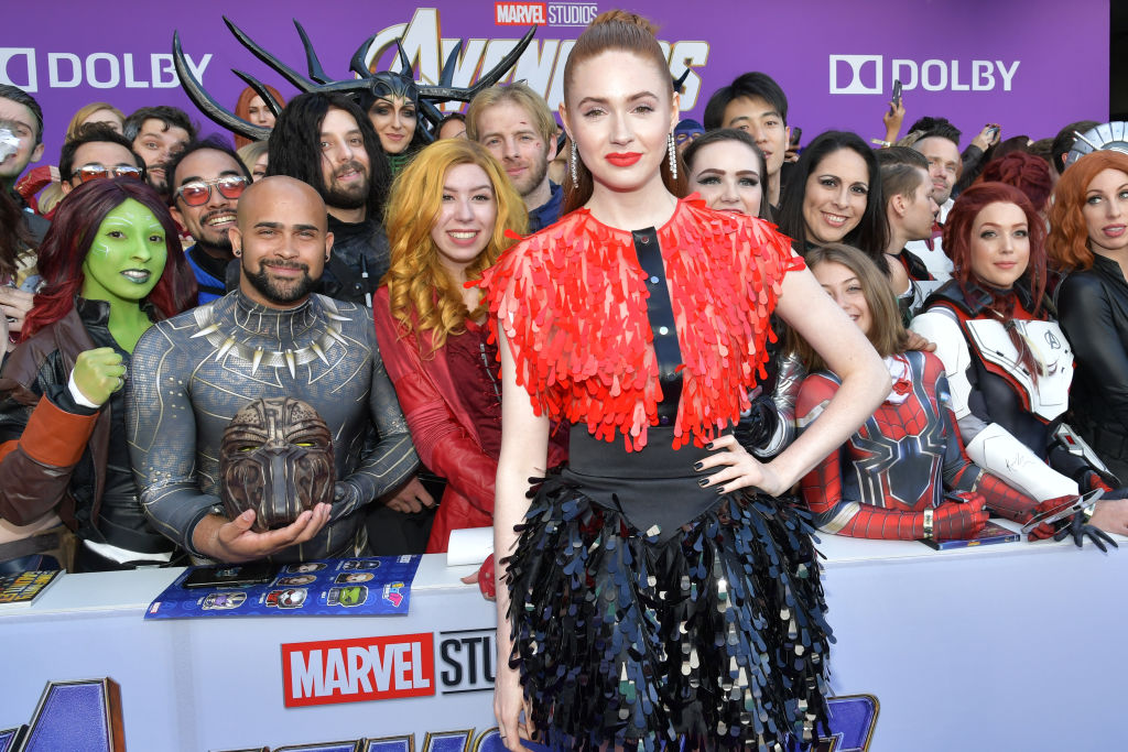 Karen Gillan on the red carpet for the premiere of 'Avengers: Endgame.'
