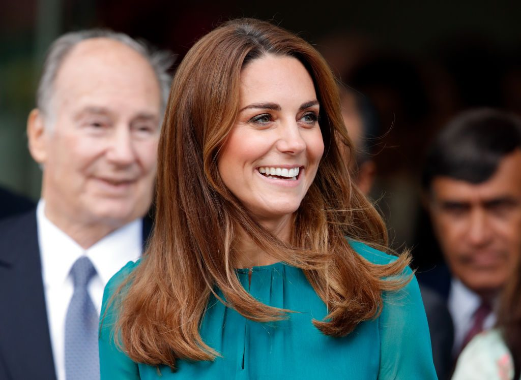 Kate Middleton visits the Aga Khan Centre on in London, England.