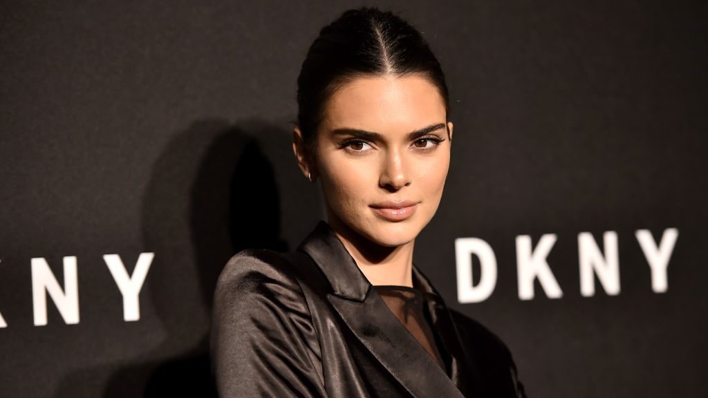 Kendall Jenner attends the DKNY 30th Anniversary party at St. Ann's Warehouse in New York City.