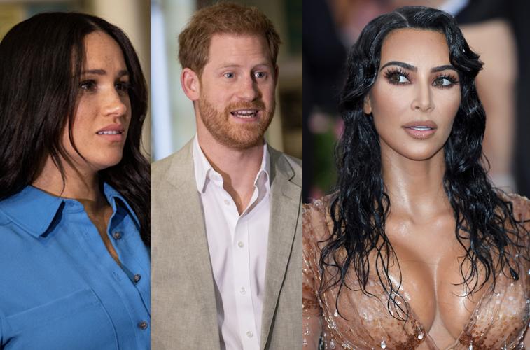 Meghan Markle, Prince Harry, and Kim Kardashian