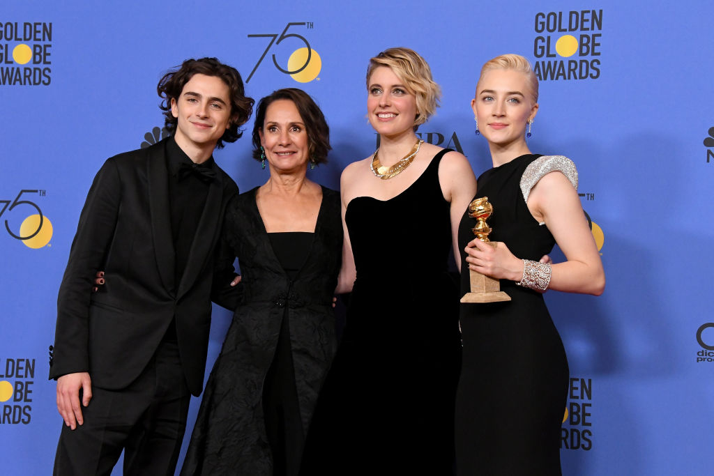 The cast of 'Lady Bird' at the Golden Globes.