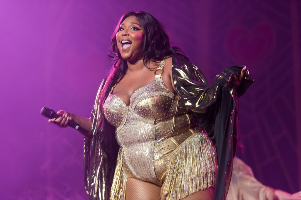 Lizzo in concert in NYC.