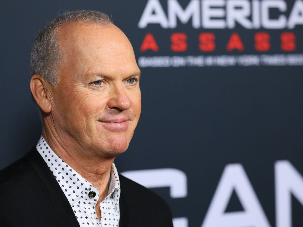 Michael Keaton on a red carpet.