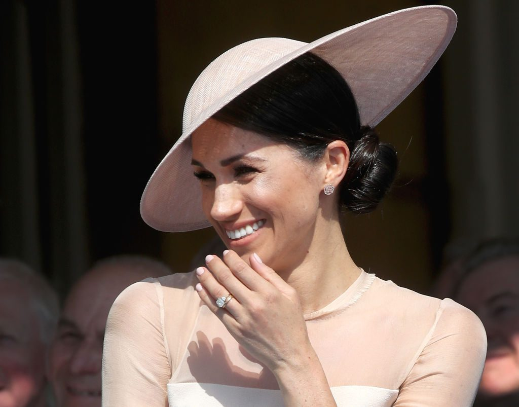 Meghan Markle attends The Prince of Wales' 70th Birthday Patronage Celebration.