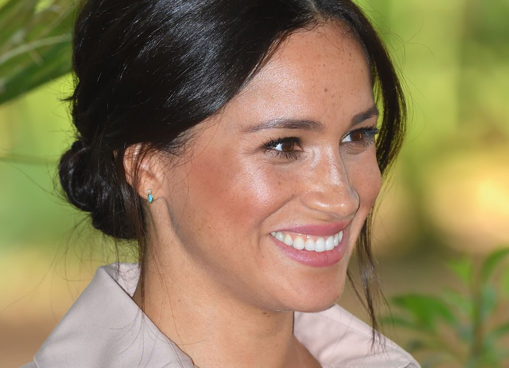 Meghan Markle attends a reception to celebrate the UK and South Africa's important business and investment relationship at the High Commissioner's Residence during their royal tour of South Africa.