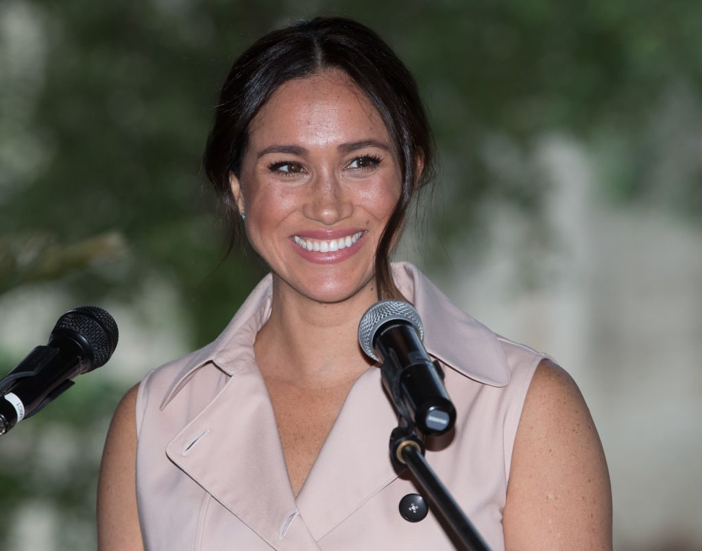Meghan Markle visits the British High Commissioner's residence to attend an afternoon reception.