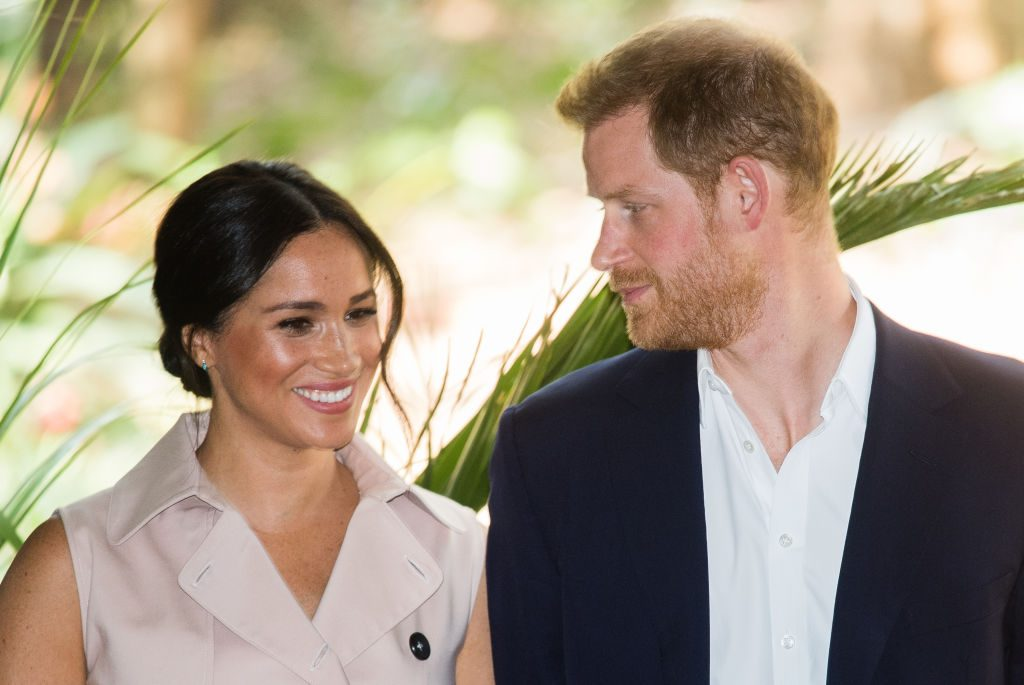 Meghan Markle and Prince Harry visit the British High Commissioner's residence.