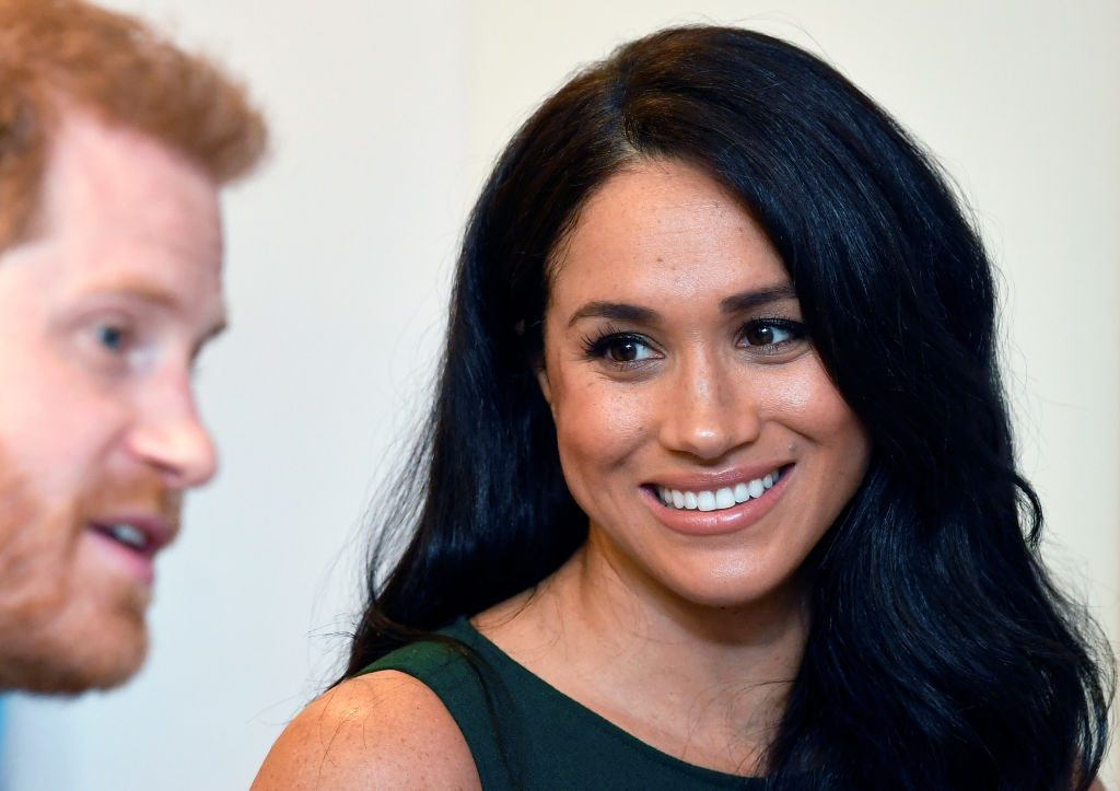 Prince Harry and Meghan Markle attend the reception of the WellChild Awards at the Royal Lancaster Hotel.