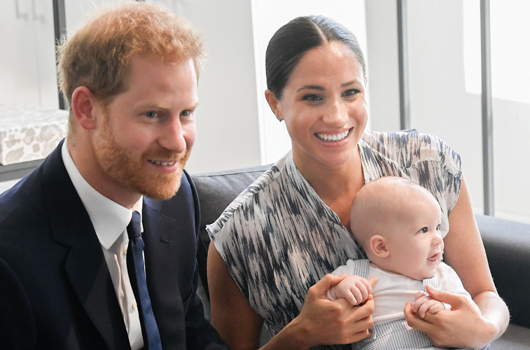 Prince Harry, Meghan Markle, and child Archie