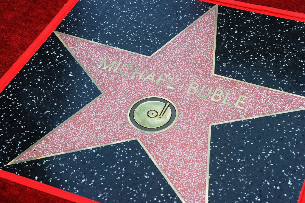 Michael Buble's star on the Walk of Fame