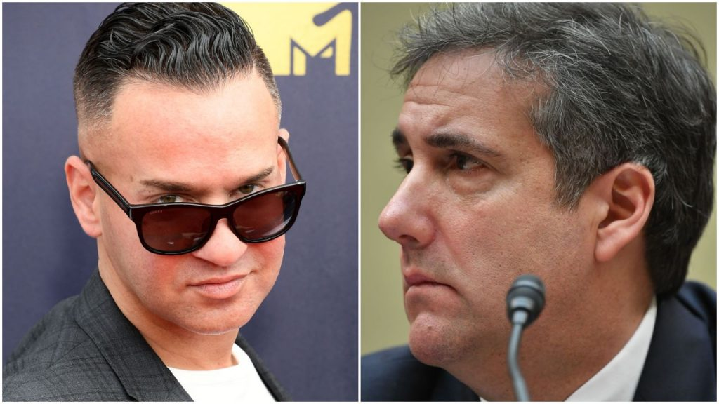 composite image of Mike Sorrentino and Michael Cohen