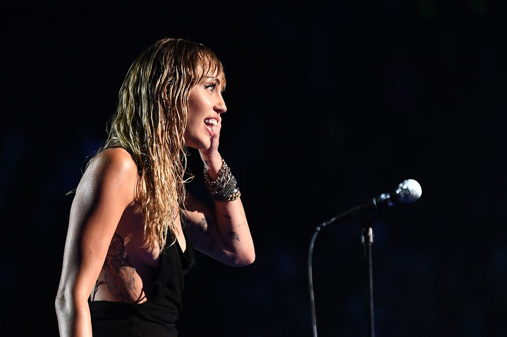 Miley Cyrus performs at the 2019 MTV Video Music Awards on August 26, 2019