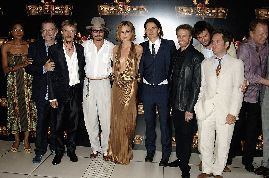 The cast of 'Pirates of the Caribbean' at the 2006 premiere of 'Dead Man's Chest.'