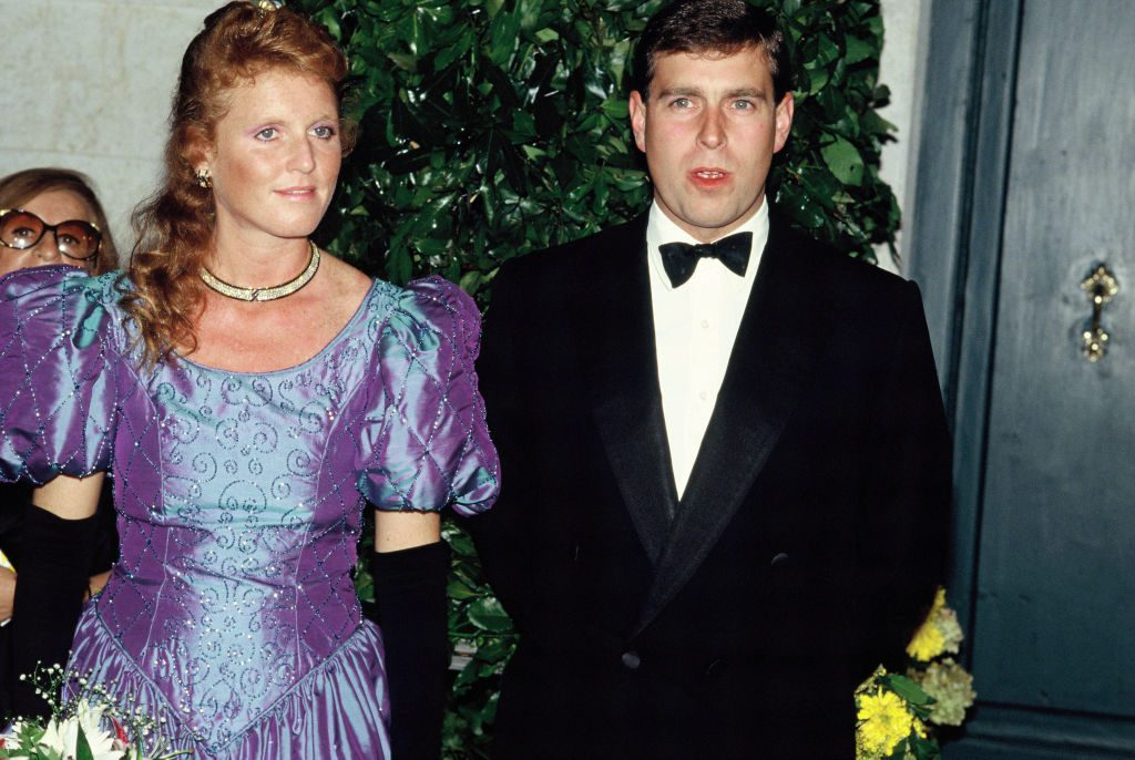 Sarah Ferguson and Prince Andrew in 1990 in London, England.
