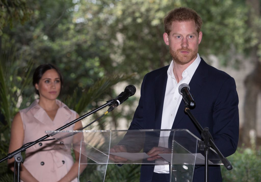 Prince Harry visits the British High Commissioner's residence in Johannesburg, South Africa.