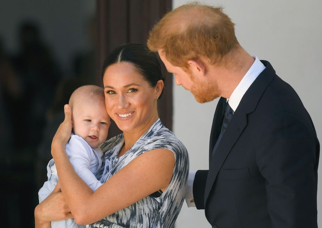 prince harry meghan markle baby archie rocking