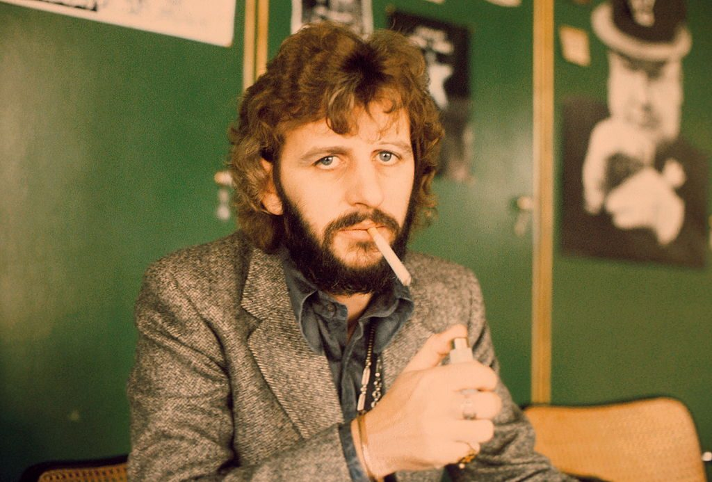 Ringo Starr and a green wall