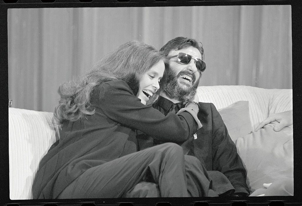 Ringo Starr with his wife Barbara Bach
