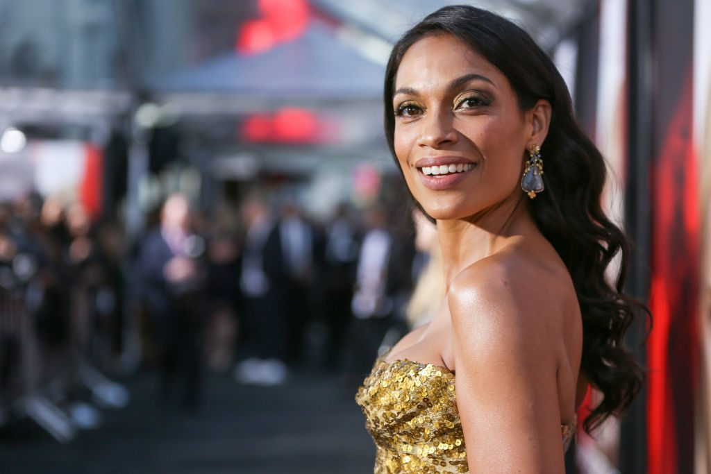 """Rosario Dawson attends the premiere of Warner Bros. Pictures' """"Unforgettable"""" at TCL Chinese Theatre."""