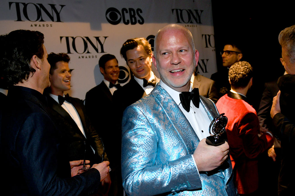 Ryan Murphy with his Tony Award for 'The Boys in the Band,' 2019.