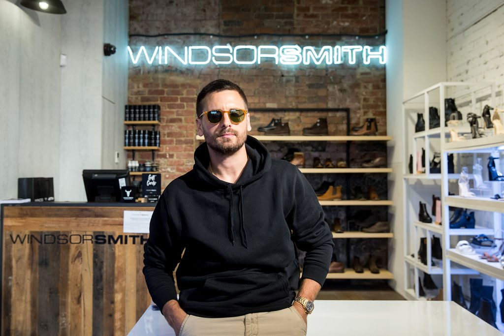 Scott Disick makes a store appearance at Windsor Smith on Bourke Street.